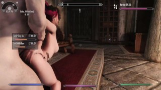 Catoon Tube : Skyrim Succubus Girl Drinks from her Victim and Lets him Live