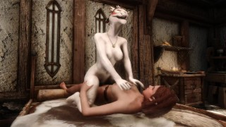 Catoon Tube : Argonian Cowgirls Elf Girl