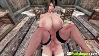 Catoon Tube : 3D Huge Tits Babe Riding Futanari Witch