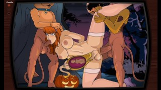 Catoon Tube : A Sticky Sap Tree Velma and Daphne Futanari Hentai Game Cream Bee
