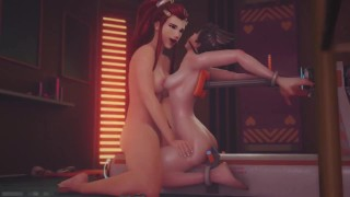 Catoon Tube : Overwatch Fuck Machine and Lesbian Action 124 3DHentai