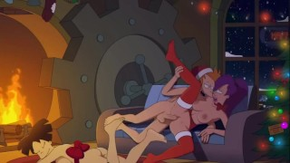 Catoon Tube : Fry Fucks Leela while Nibbler and Amy Relax in a Open Fire Sfan