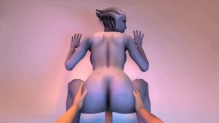 Catoon Tube : Night with Liara Mass Effect Gameplay by LoveSkySan69