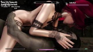 Catoon Tube : Skyrim Succubus Devours three Helpless Men